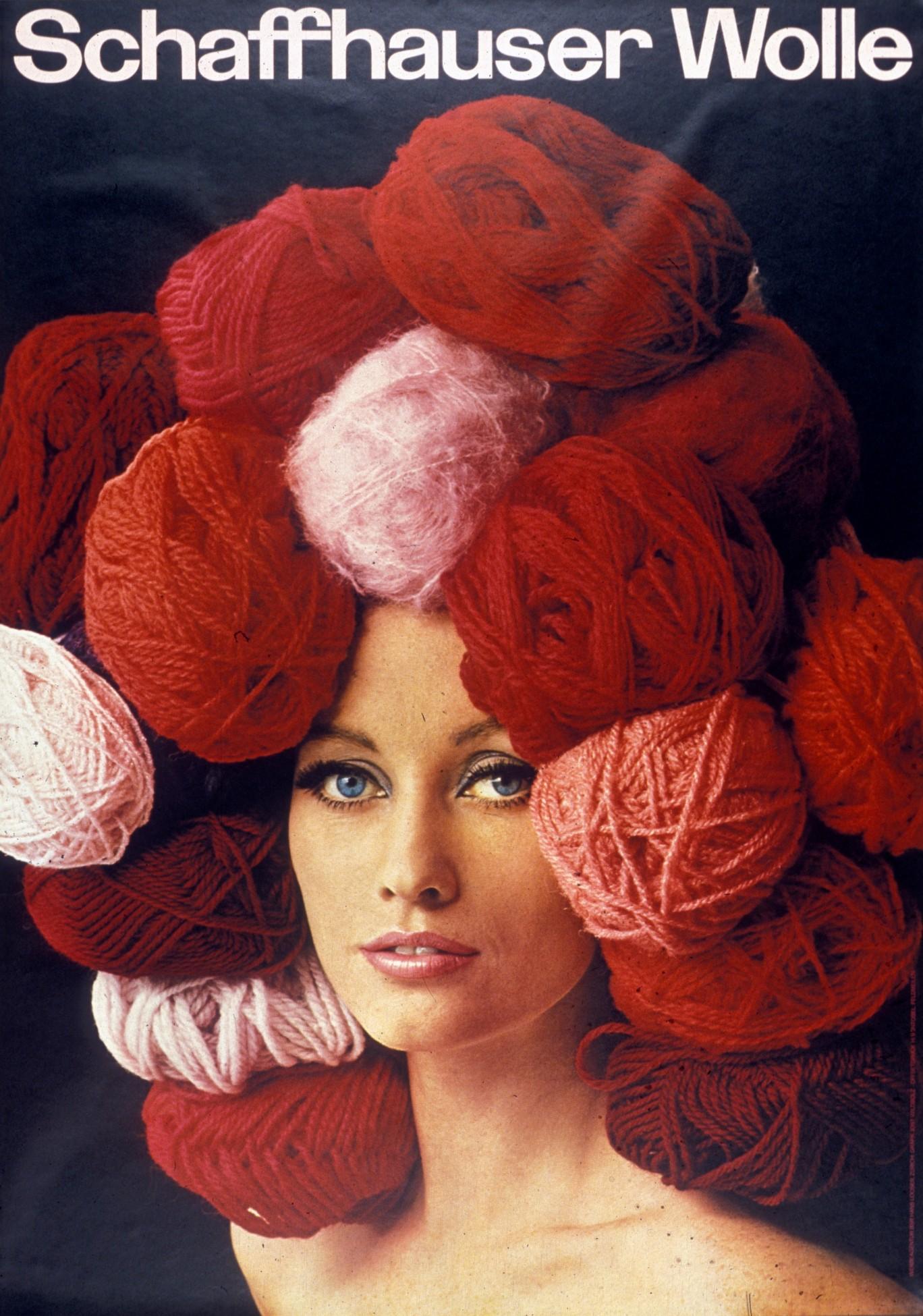 Plakat für Schaffhauser Wolle