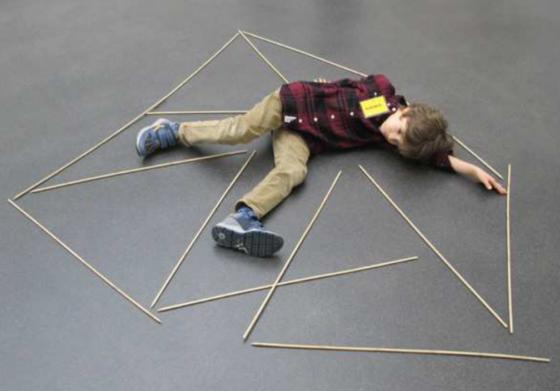 Körperlinien-Kunstwerk