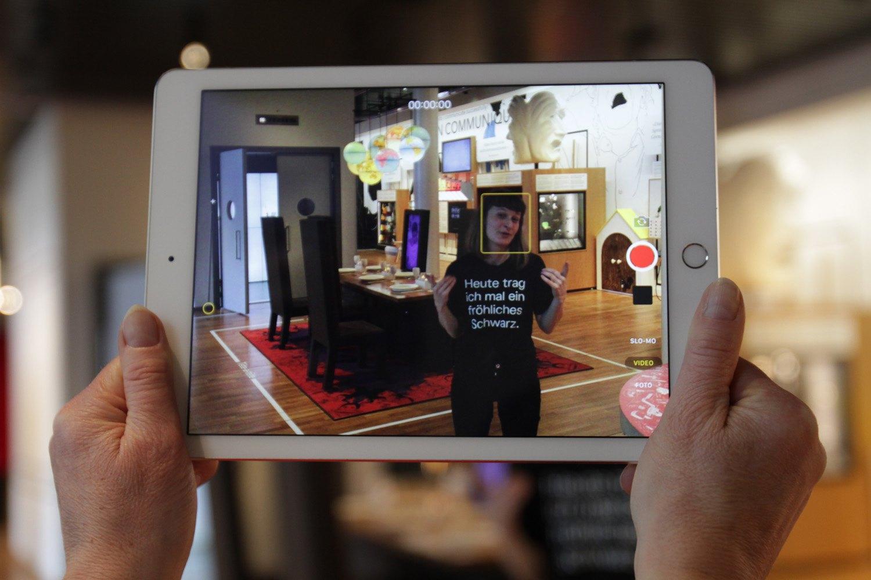 Ausstellungsansicht im iPad