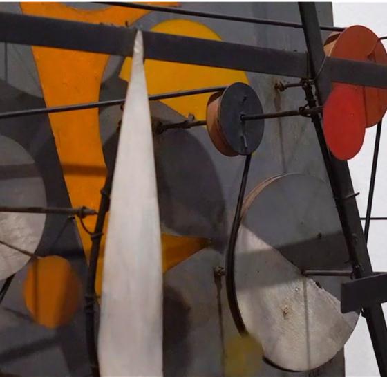 Jean-Tinguely, Ausschnitt aus Wundermaschine Méta-Kandinsky I